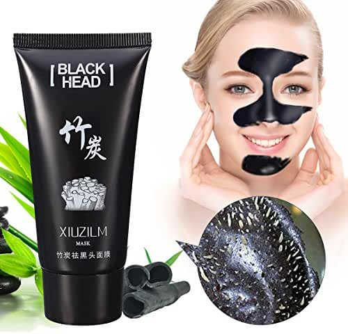 LuckyFine Purifying Peel-off Mask, Facial Cleansing, Blackhead Remover Deep Cleanser, Acne Face Mask, Single, Black